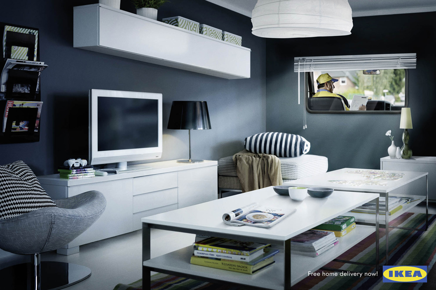 IKEA Print Ad   Living Room