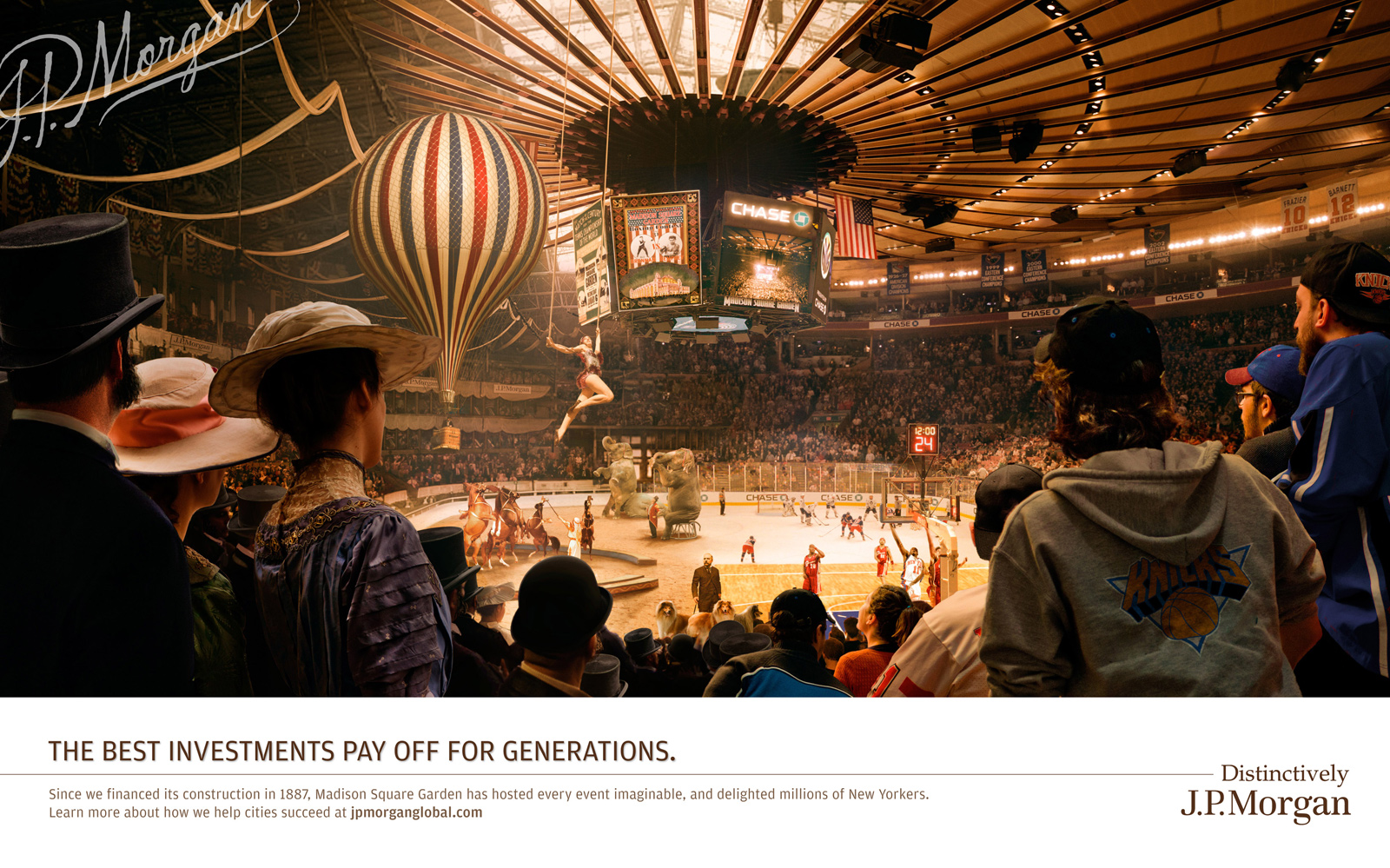 JPMorgan Chase Print Advert By mcgarrybowen: Madison Square Garden ...