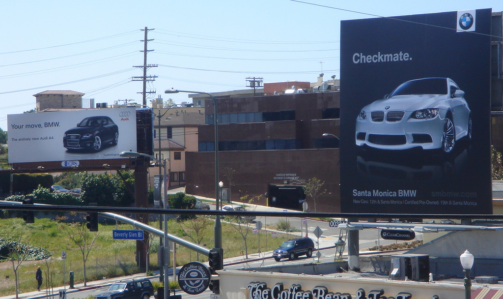 BMW Outdoor Advert By Juggernaut Checkmate Ads Of The World - What car is better audi or bmw