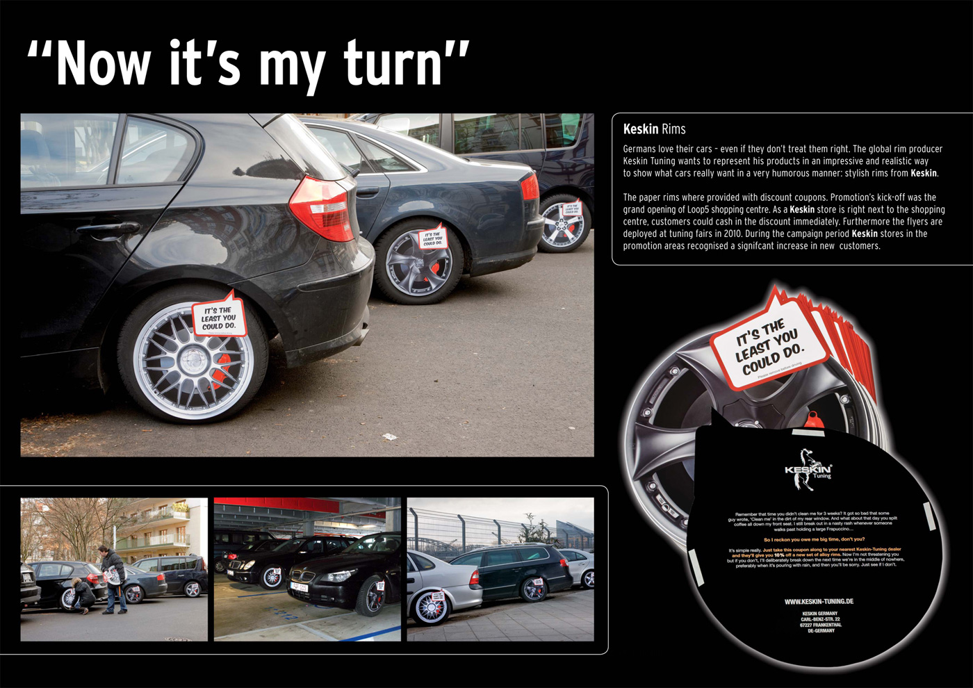 Keskin Ambient Advert By Saatchi Saatchi Rims Guerrilla Ads Of - Show me rims on my car