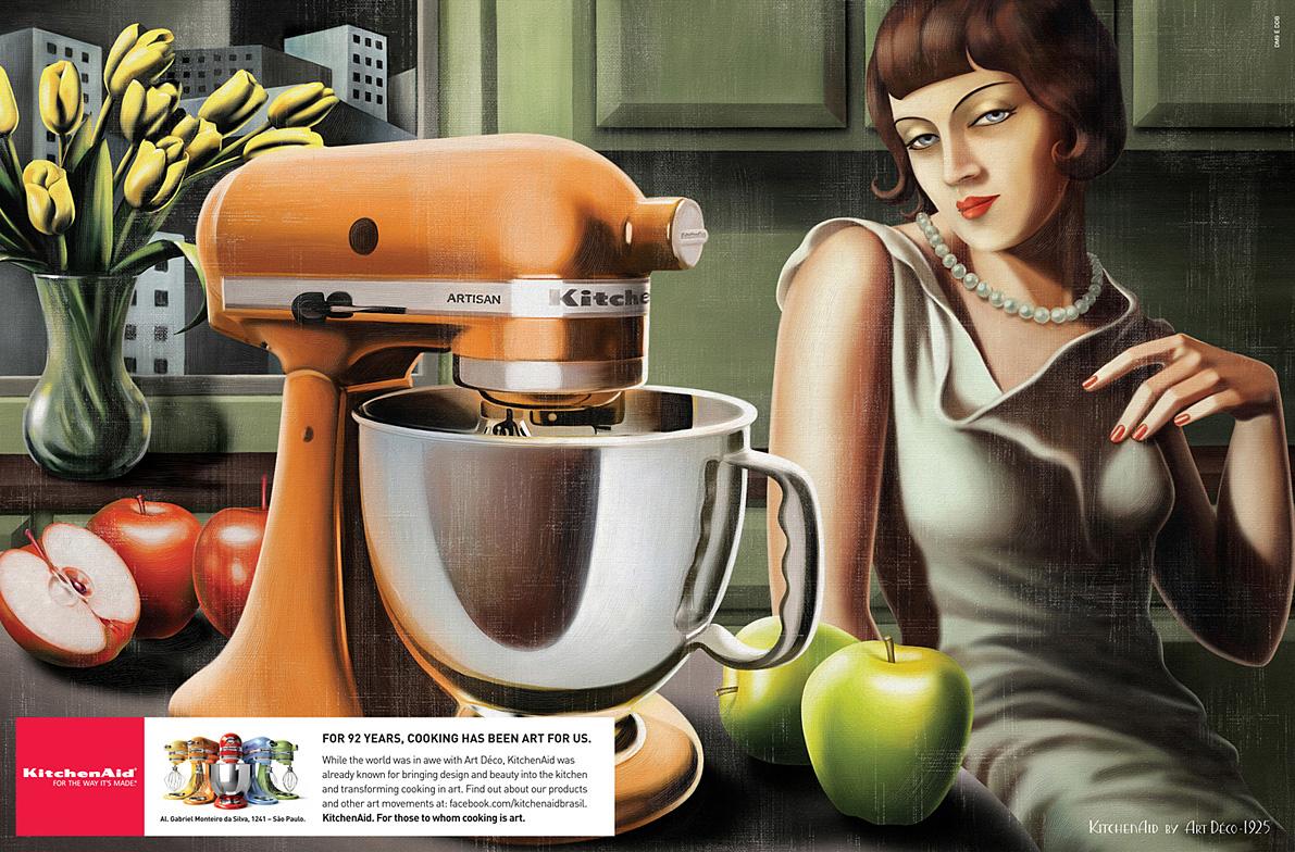 Whirlpool Print Ad   Art Deco