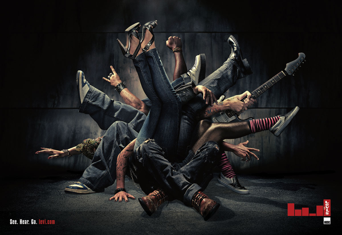 Levi's Print Advert By Centoeseis: Jeans and music | Ads ...