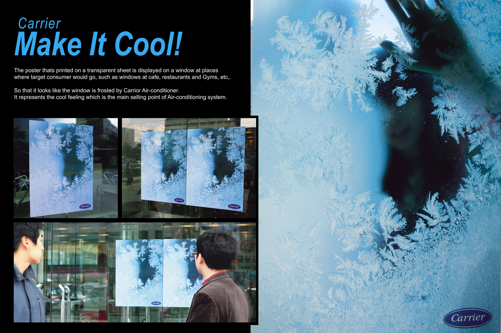 carrier outdoor advert by hancomm make it cool transparent poster