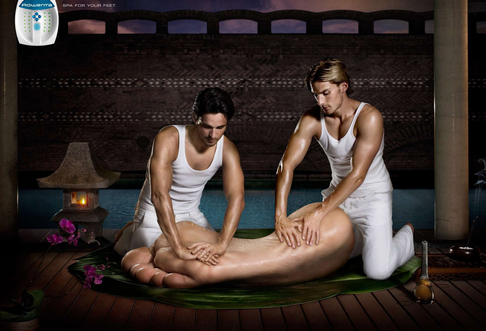 Rowenta Print Advert By Publicis: Massage | Ads of the World™