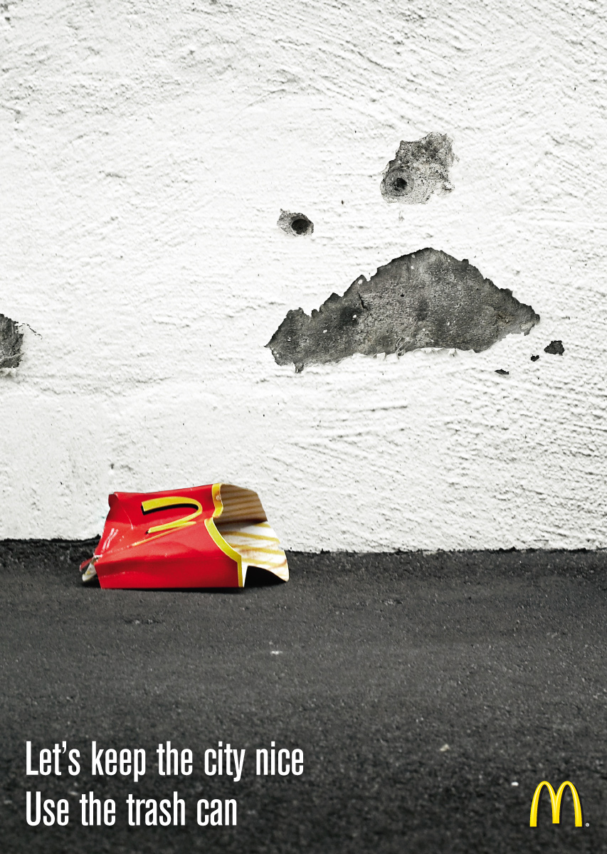 McDonald\'s Print Advert By DDB: Angry wall, 2 | Ads of the World™
