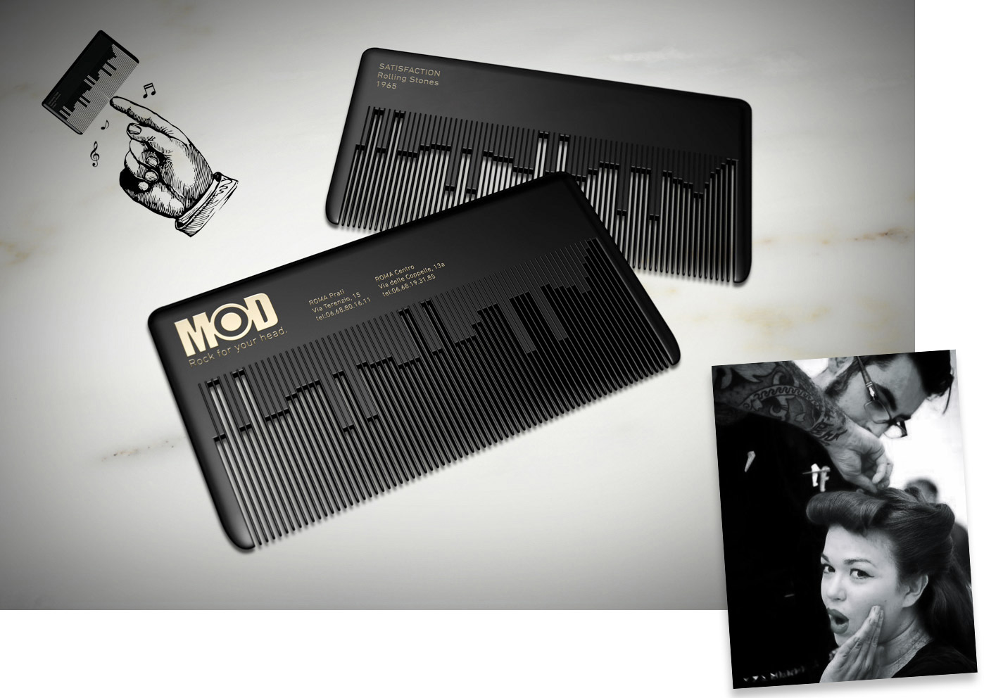 Direct advert by fabio milito musical comb businesscard ads of musical comb businesscard colourmoves