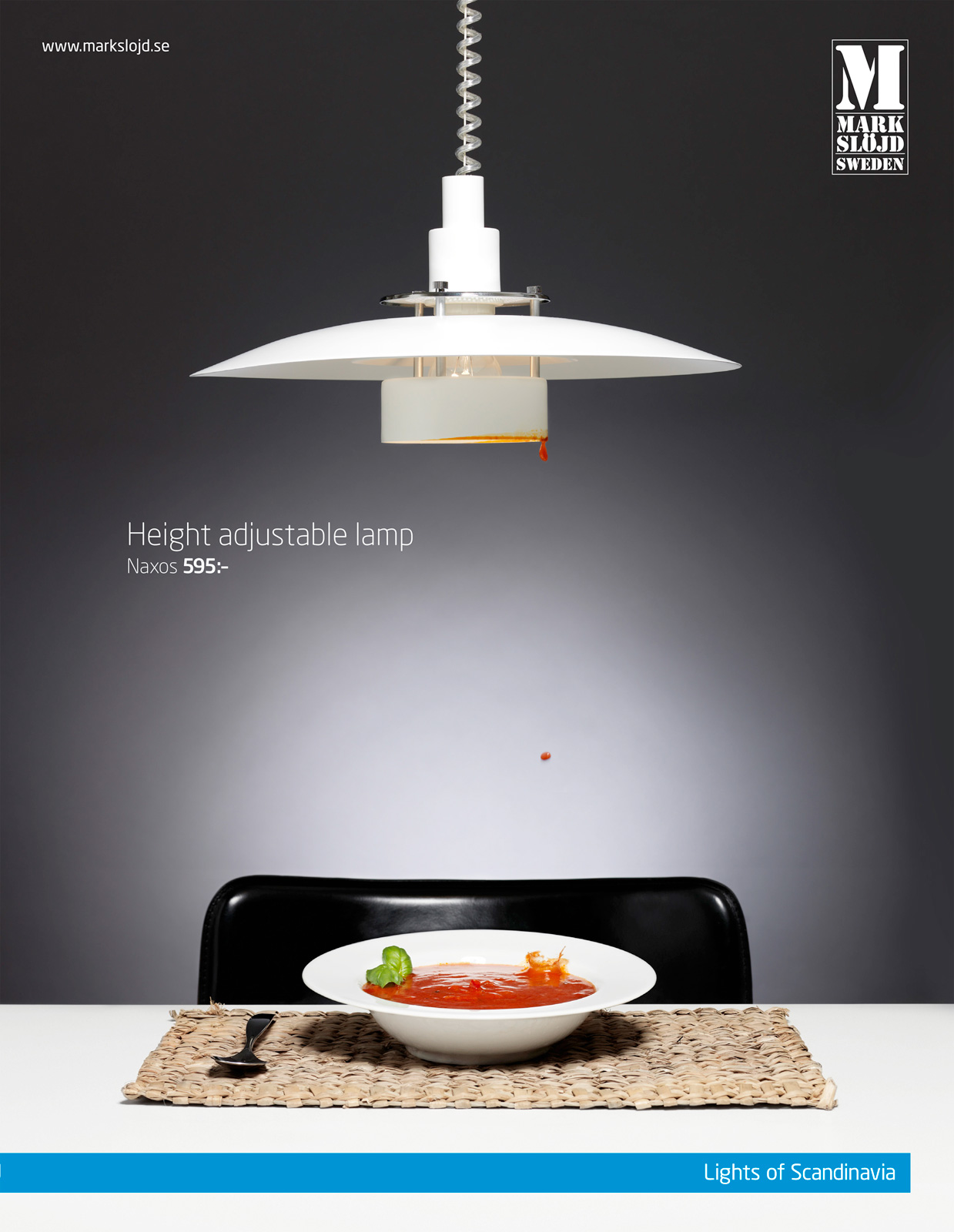 Markslöjd Print Ad   Height Adjustable Kitchen Lamp