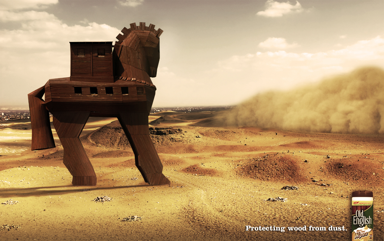Old English Print Advert By Miami Ad School: Trojan horse | Ads of ...