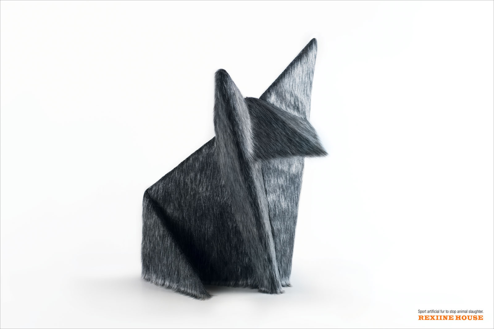 Rexiine House Print Advert By JWT Origami Wolf
