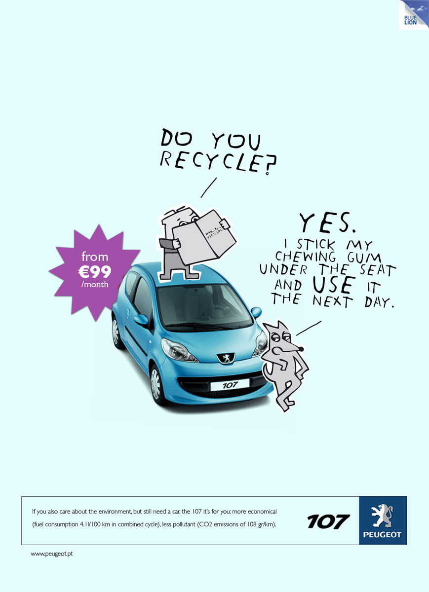 Peugeot Print Advert By Euro RSCG: Recycle | Ads of the World™