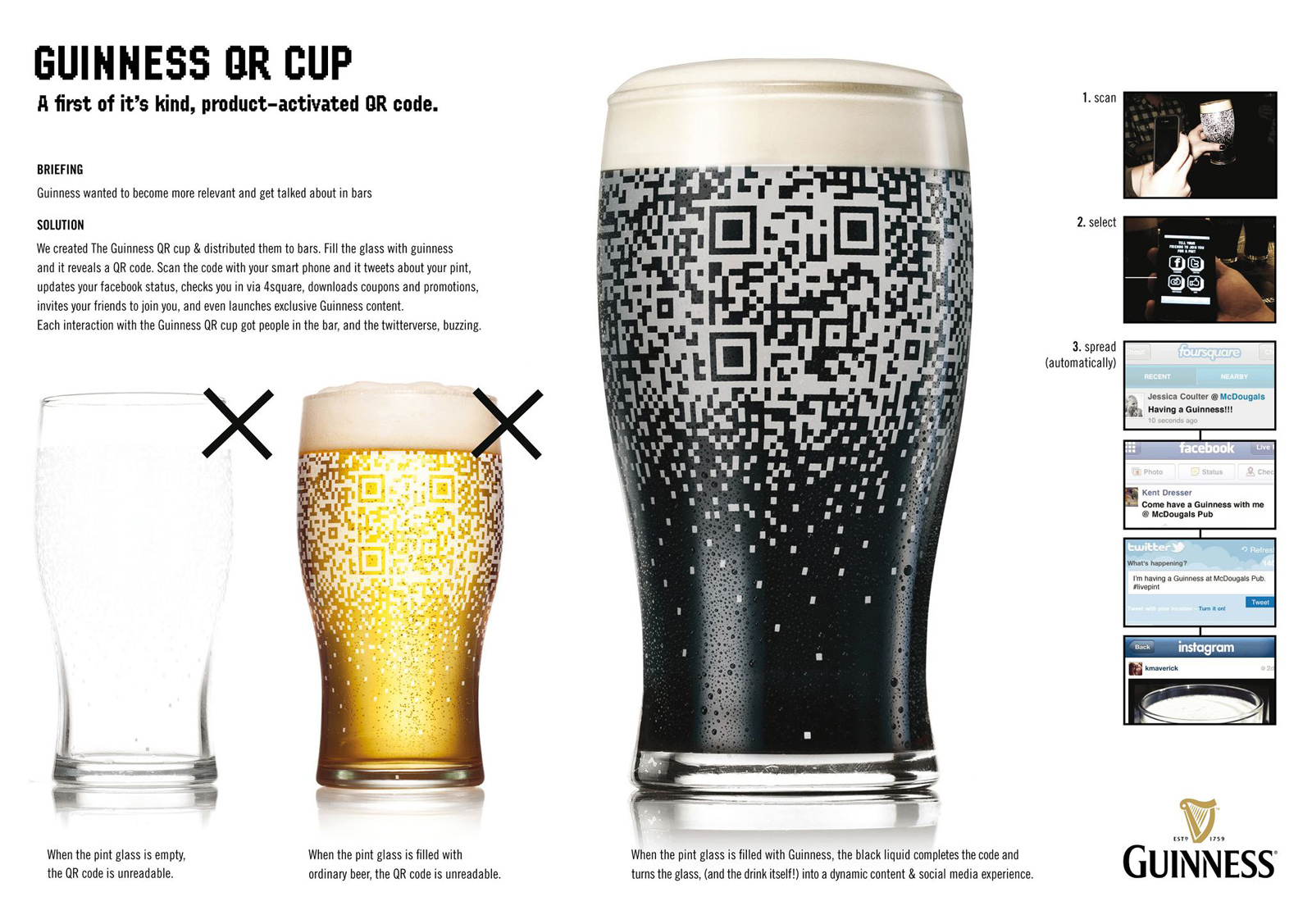 Guinness direct advert by bbdo qr code cup ads of the world guinness direct ad qr code cup sciox Choice Image
