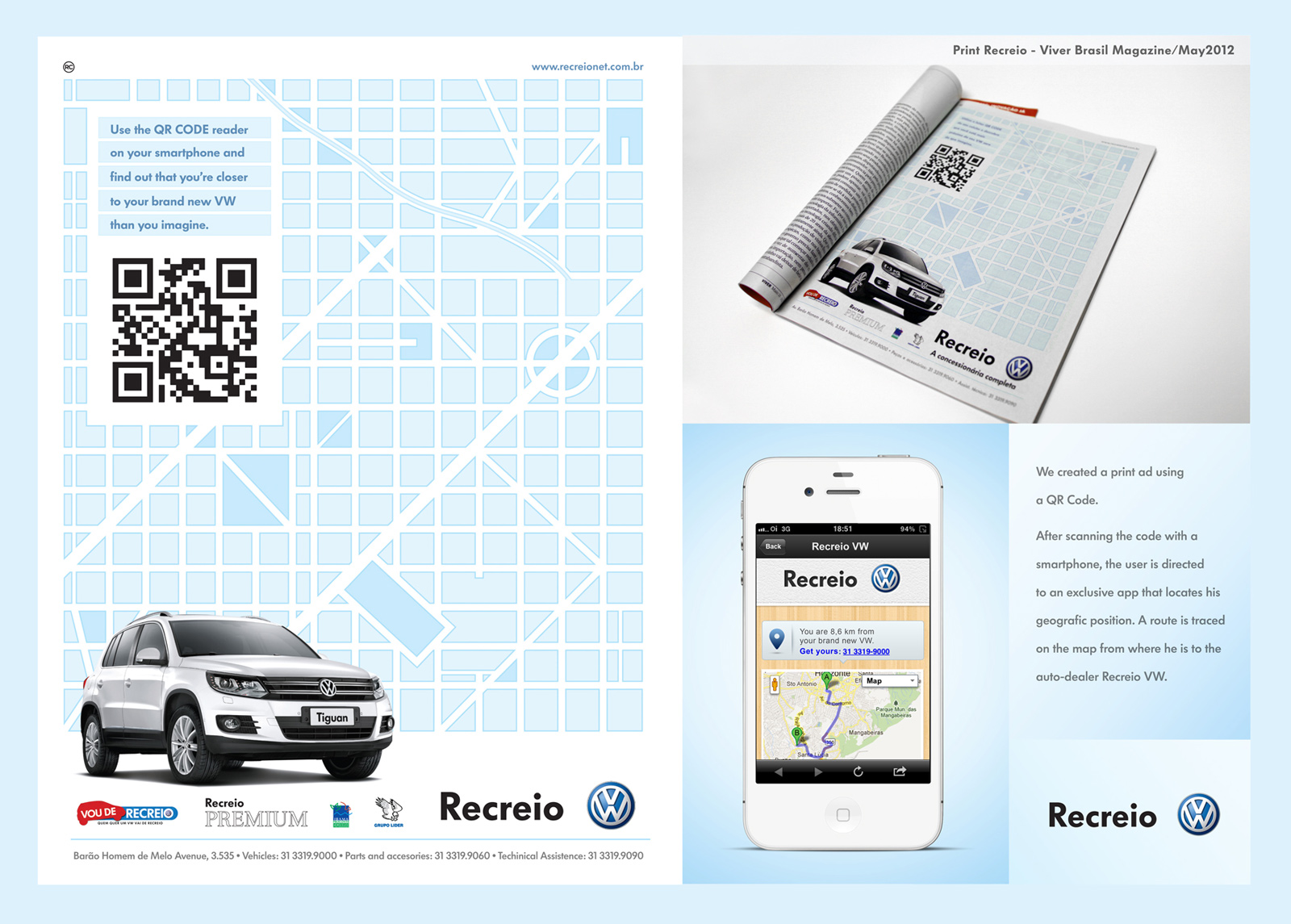 Volkswagen print advert by rc qr code ads of the world volkswagen print ad qr code sciox Choice Image