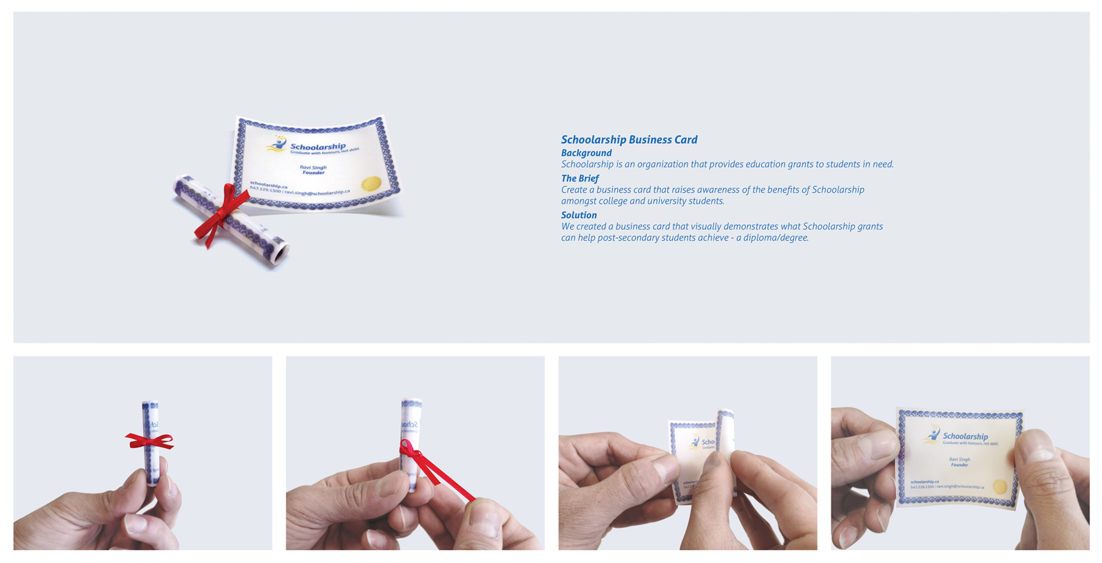 Schoolarship Direct Advert By Publicis: Degree/Diploma business card ...