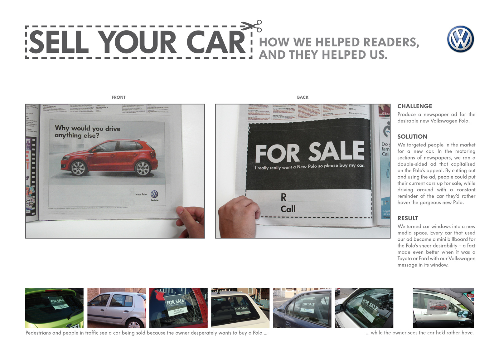 Volkswagen Print Advert By Ogilvy: Sell Your Car | Ads of the World™