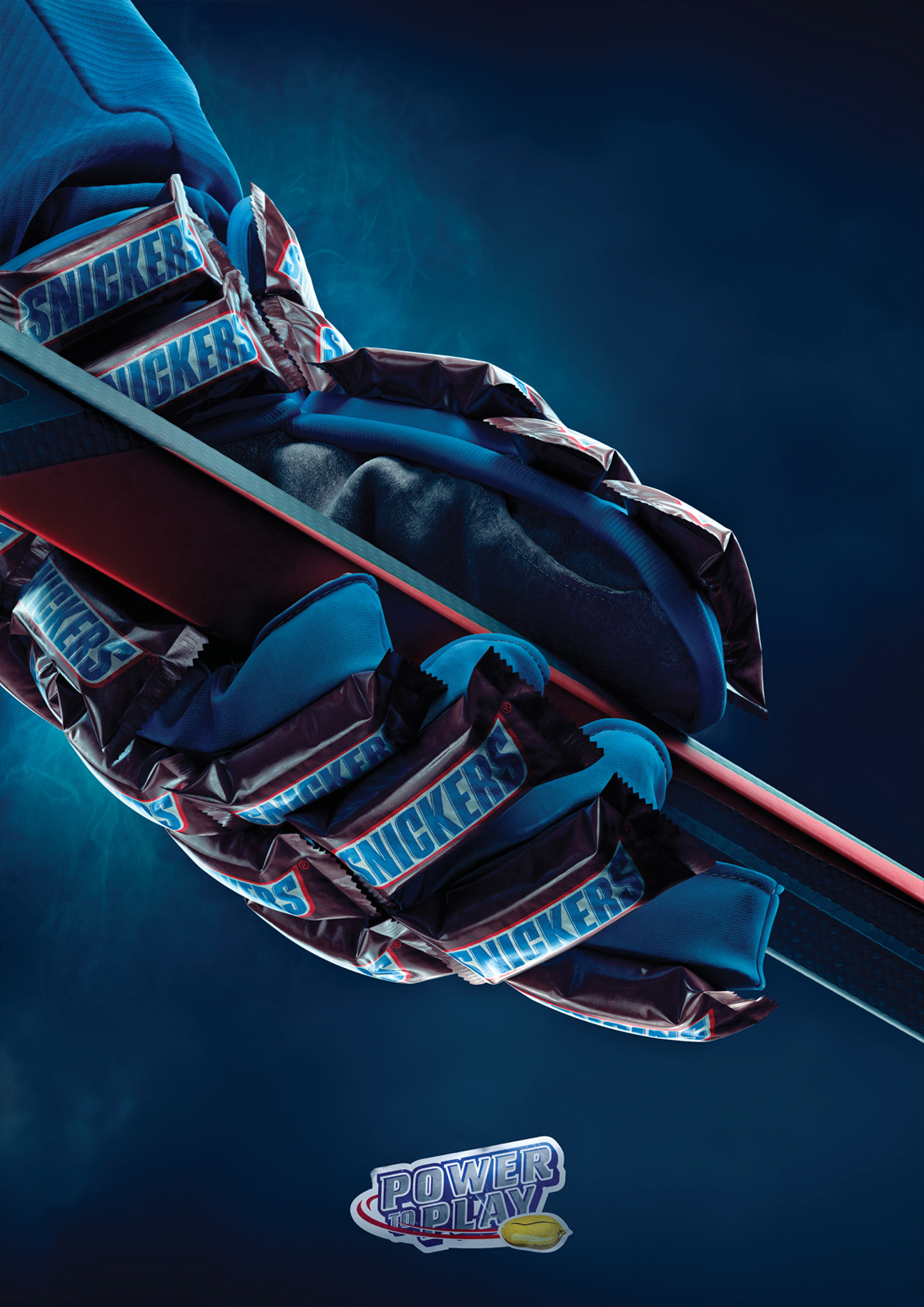 Snickers Print Advert By BBDO: Ice-hockey glove | Ads of ...