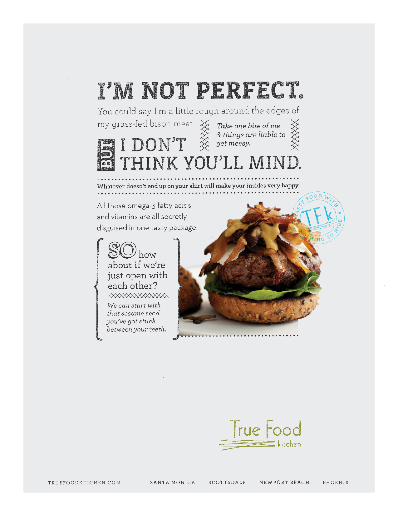 True Food Kitchen Print Ad   Bison