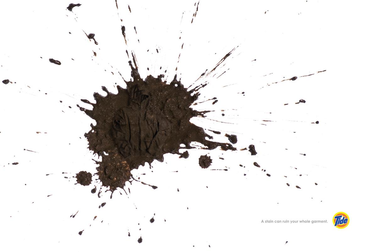 Tide Print Advert By Saatchi & Saatchi: Mud | Ads of the