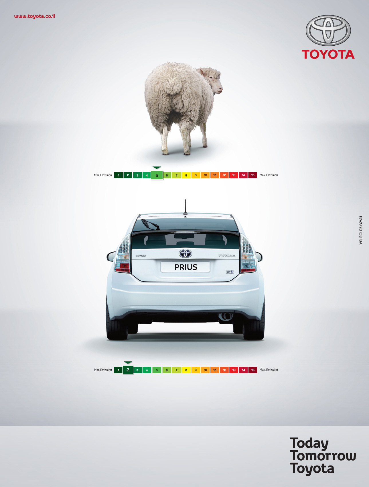 Toyota Print Advert By Tbwa Sheep Farts Ads Of The World