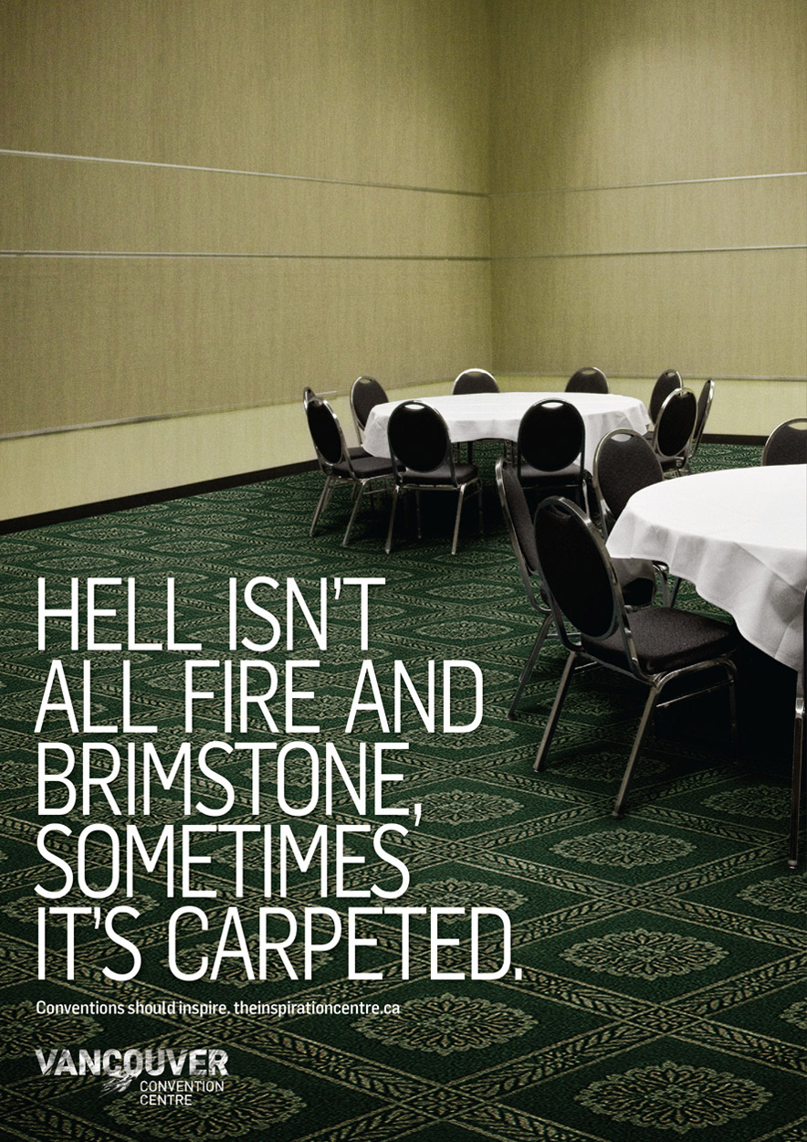 Vancouver Convention Centre Print Advert By Ddb Carpet