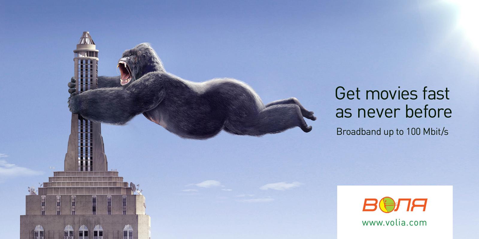 Volia Print Ad King Kong