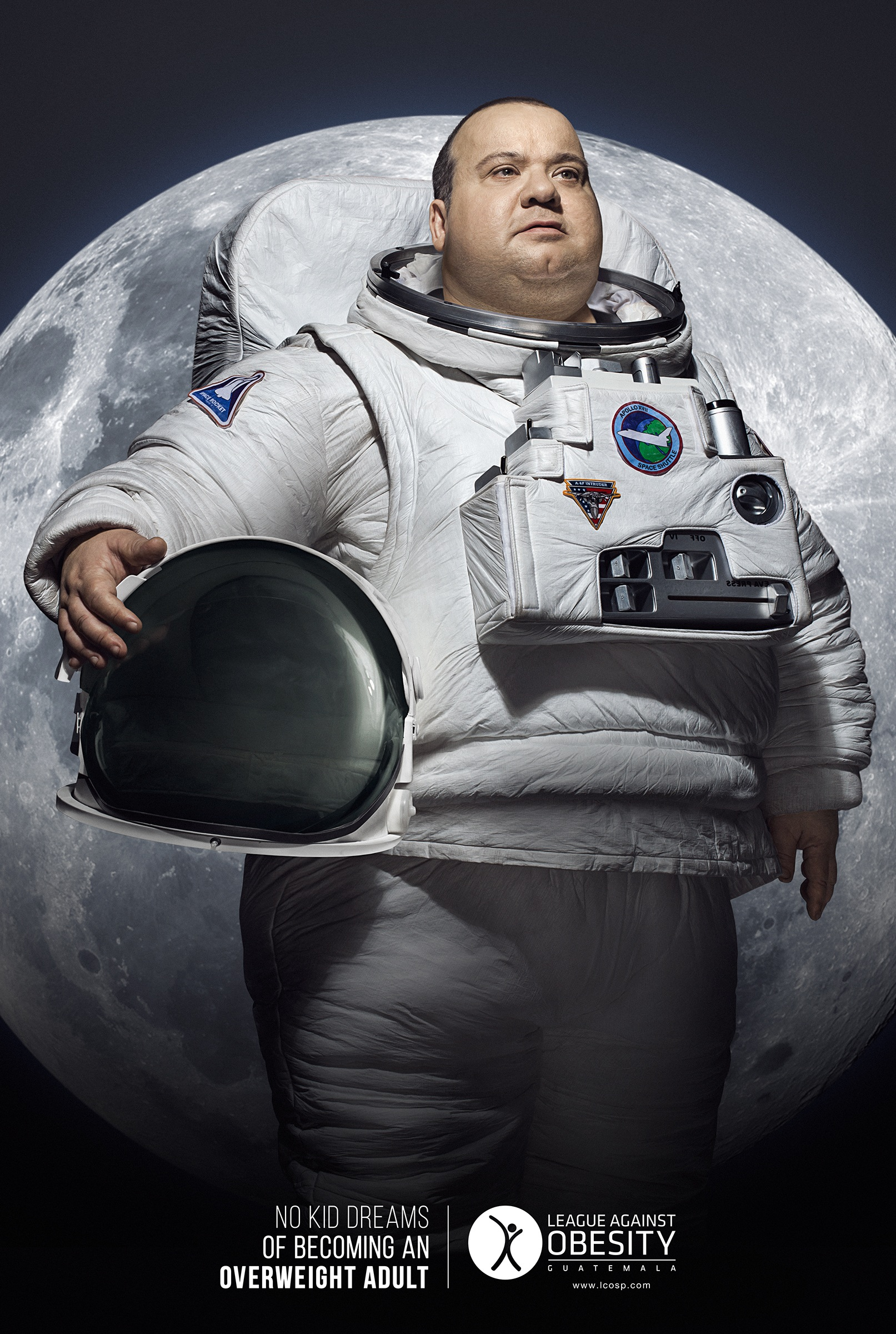 league against obesity print advert by latinworks astronaut ads of the world. Black Bedroom Furniture Sets. Home Design Ideas