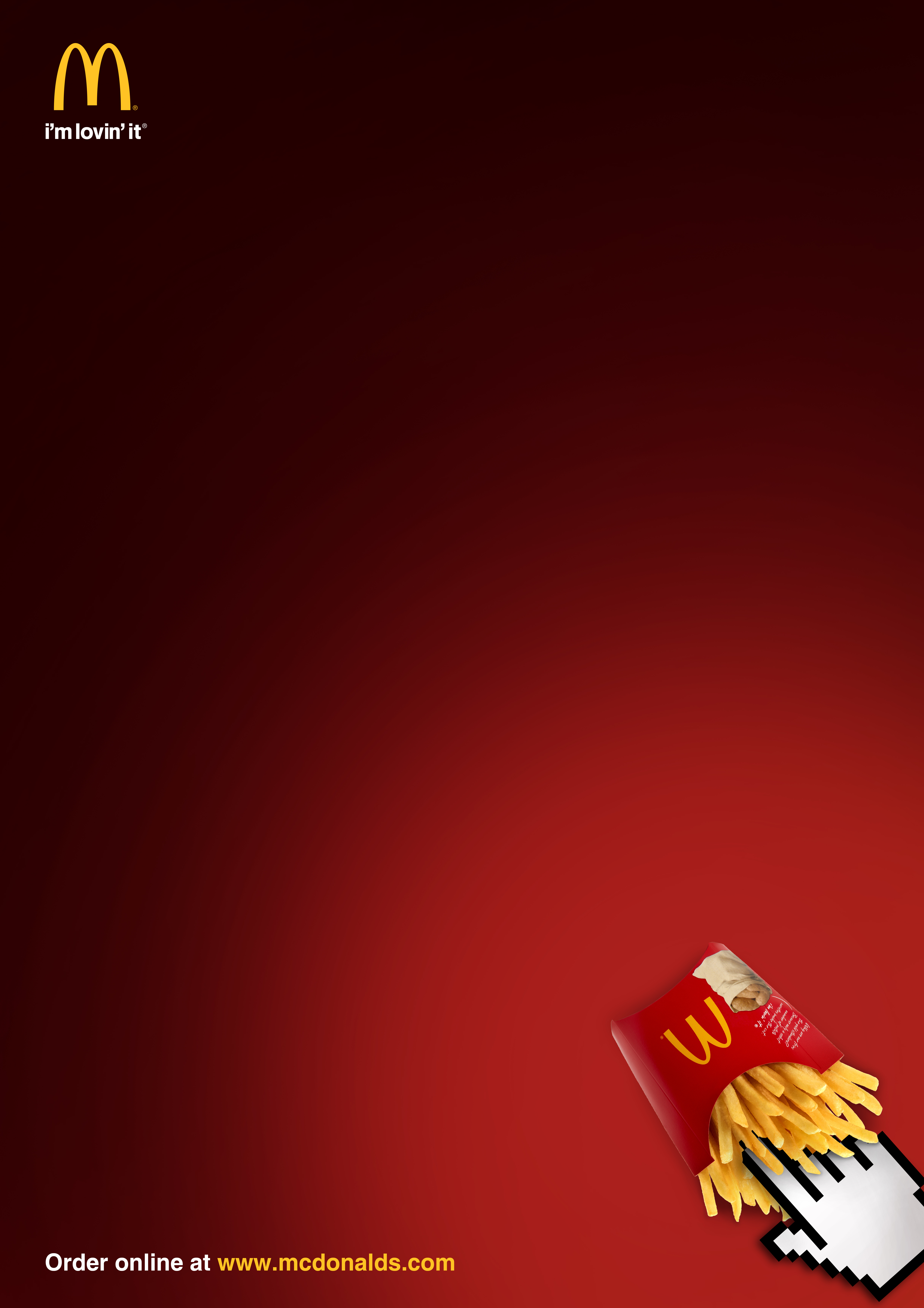 McDonalds Print Advert By Order Online