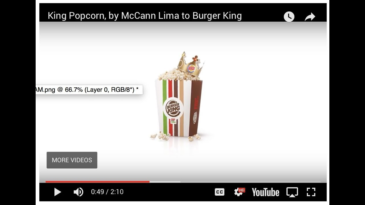 Burger King Direct Advert By McCann: King Popcorn | Ads of the World™