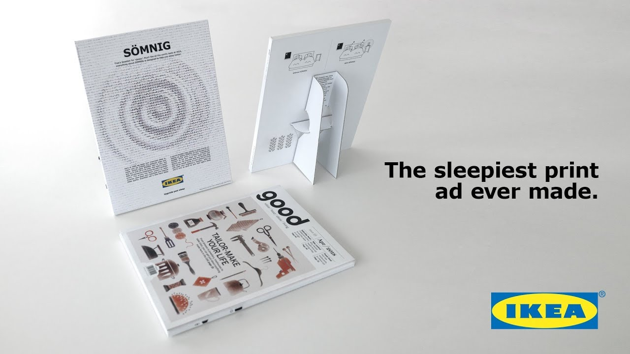 IKEA Film Advert By Ogilvy: The Sleepiest Print Ad Ever Made | Ads ...