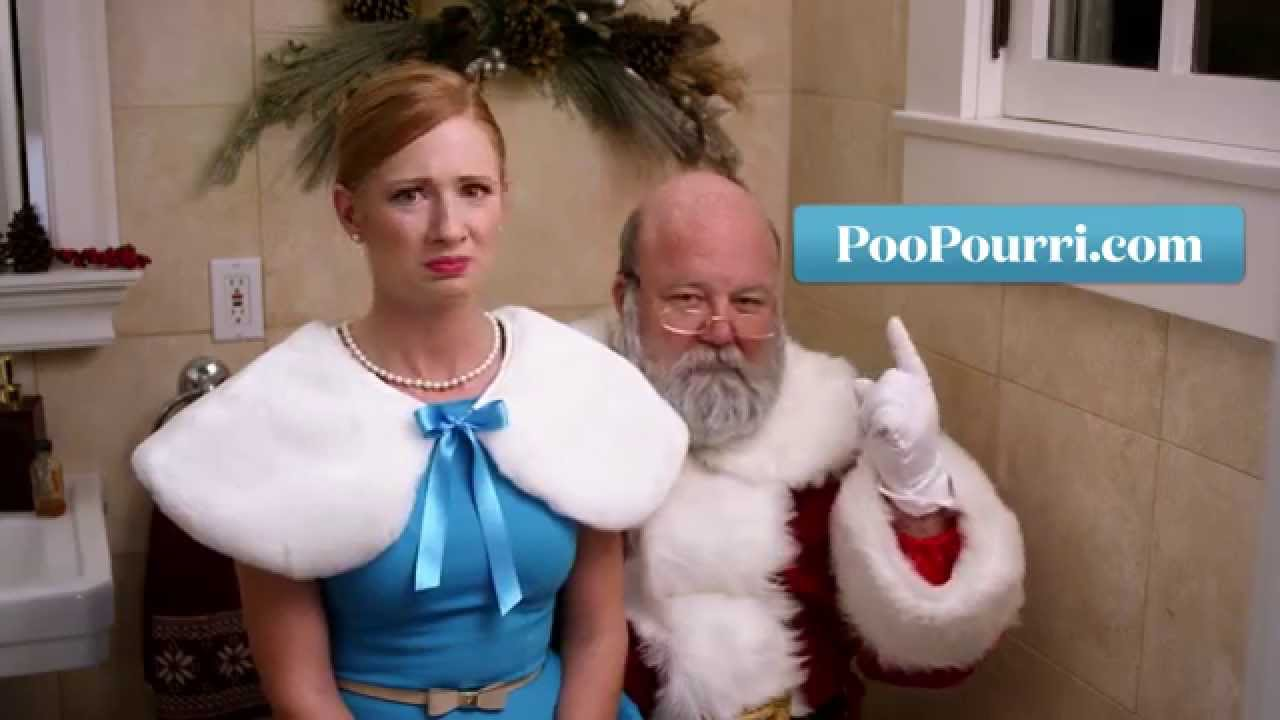 poo pourri digital advert by even santa poops ads of the world
