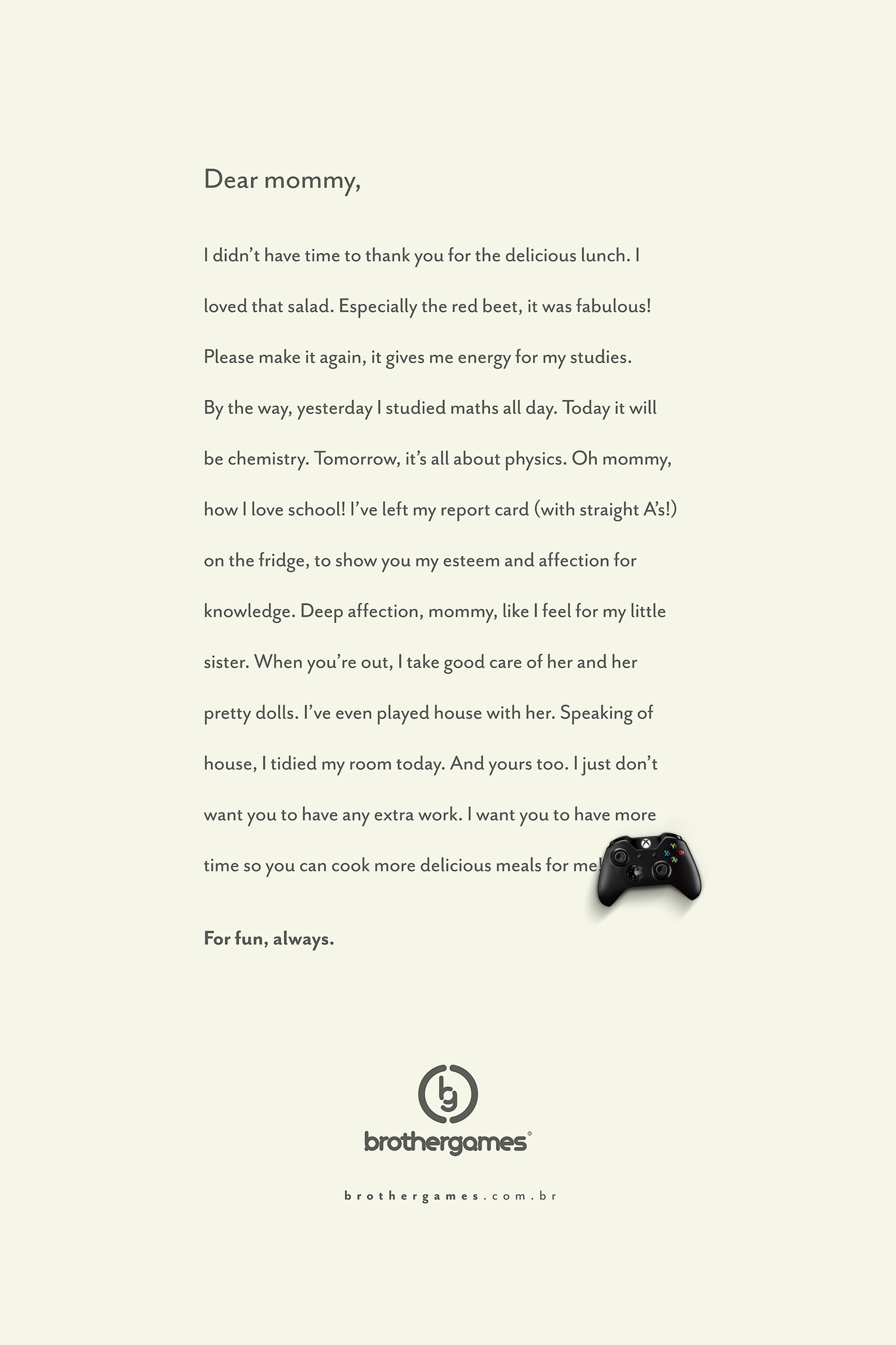 Brother Games Print Advert By Jbis: Mom | Ads of the World™