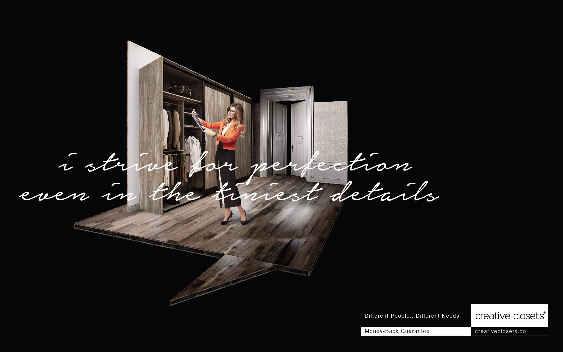 Creative Closets Print Ad   Money Back Guarantee
