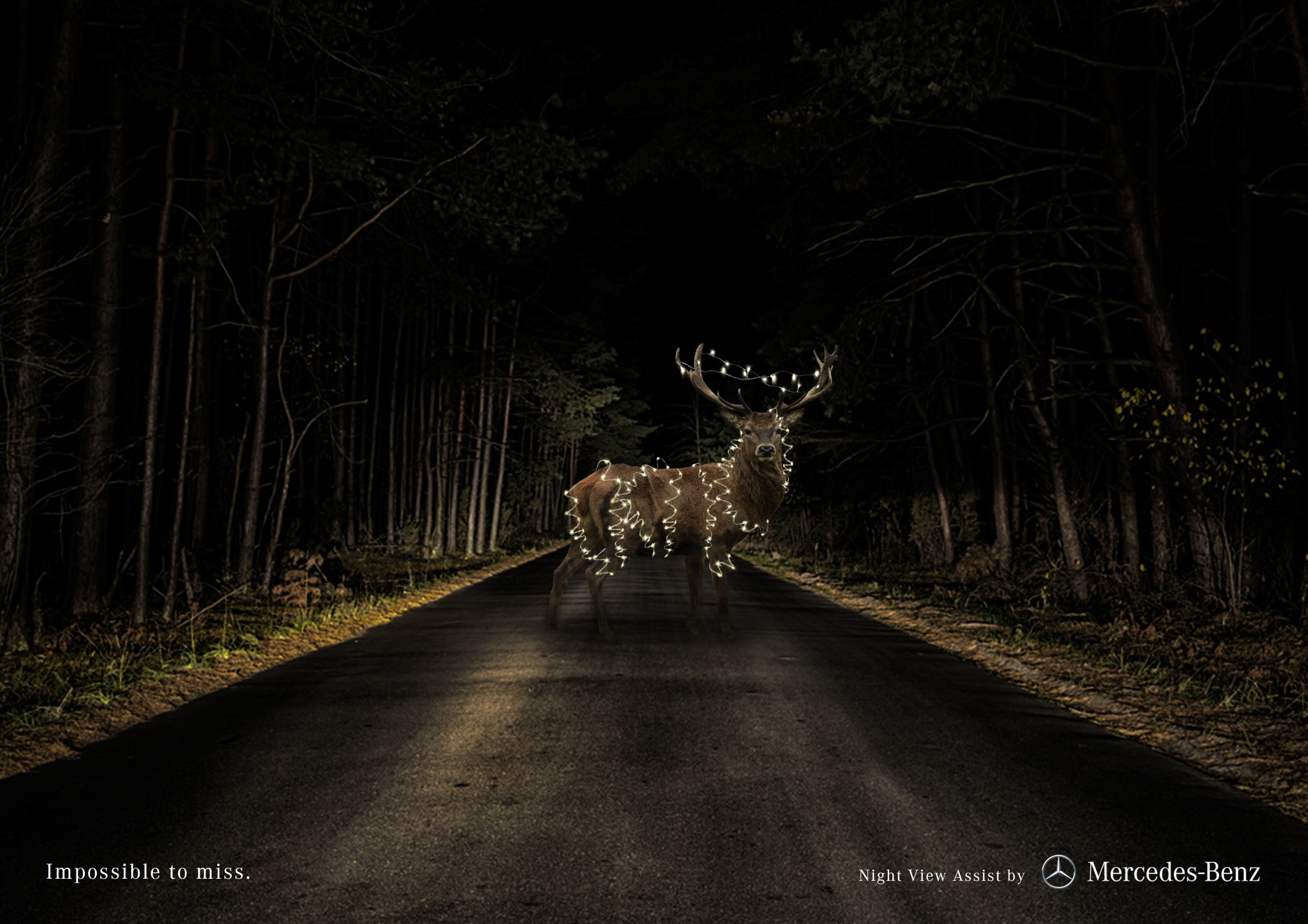 Mercedes Print Advert By Miami Ad School: Deer | Ads of the World™