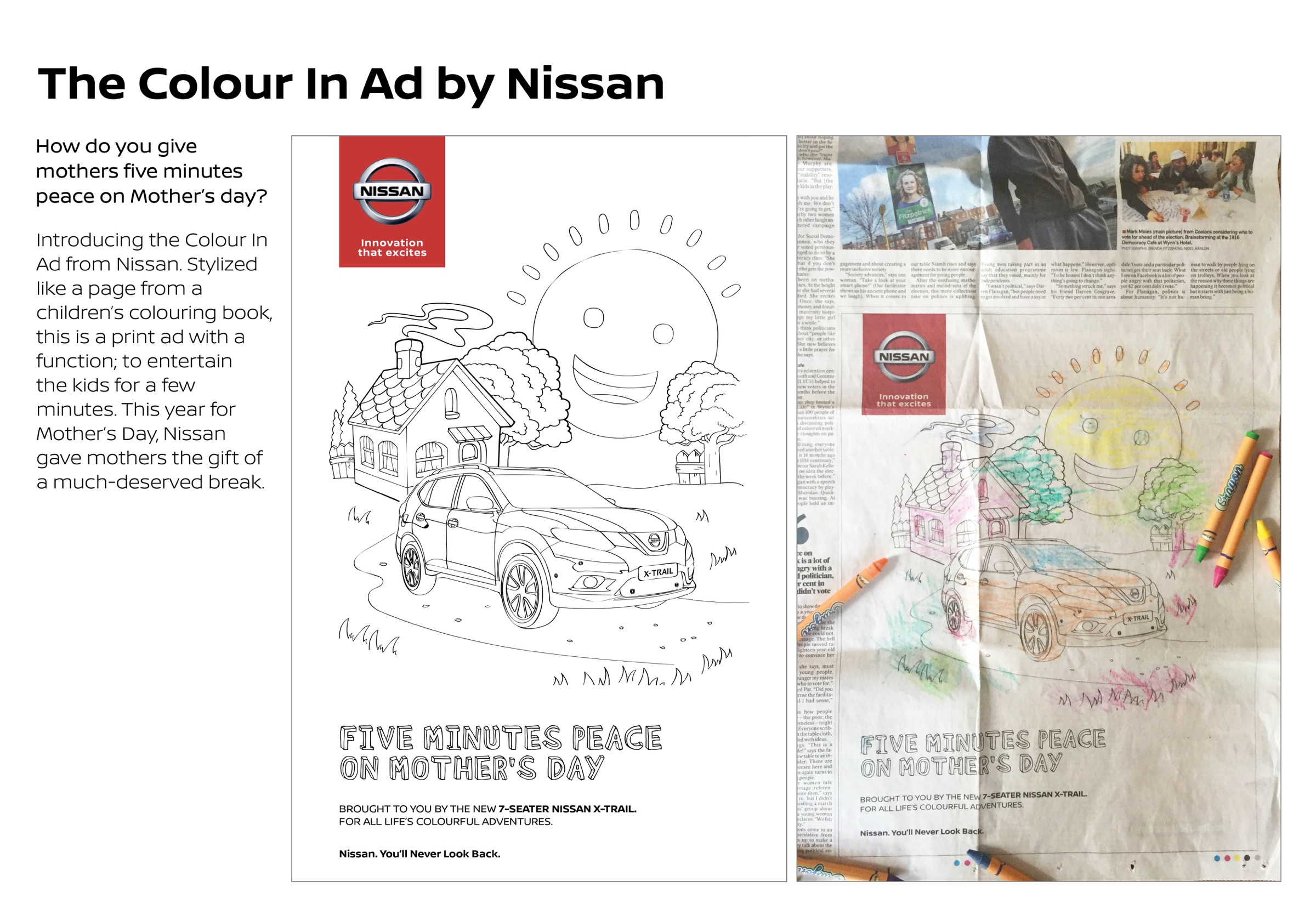Nissan Print Advert By Boys and Girls: The colour in ad | Ads of the ...