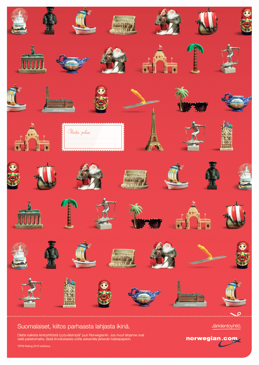 norwegian air shuttle print ad gift wrap - How Do You Say Merry Christmas In Norwegian