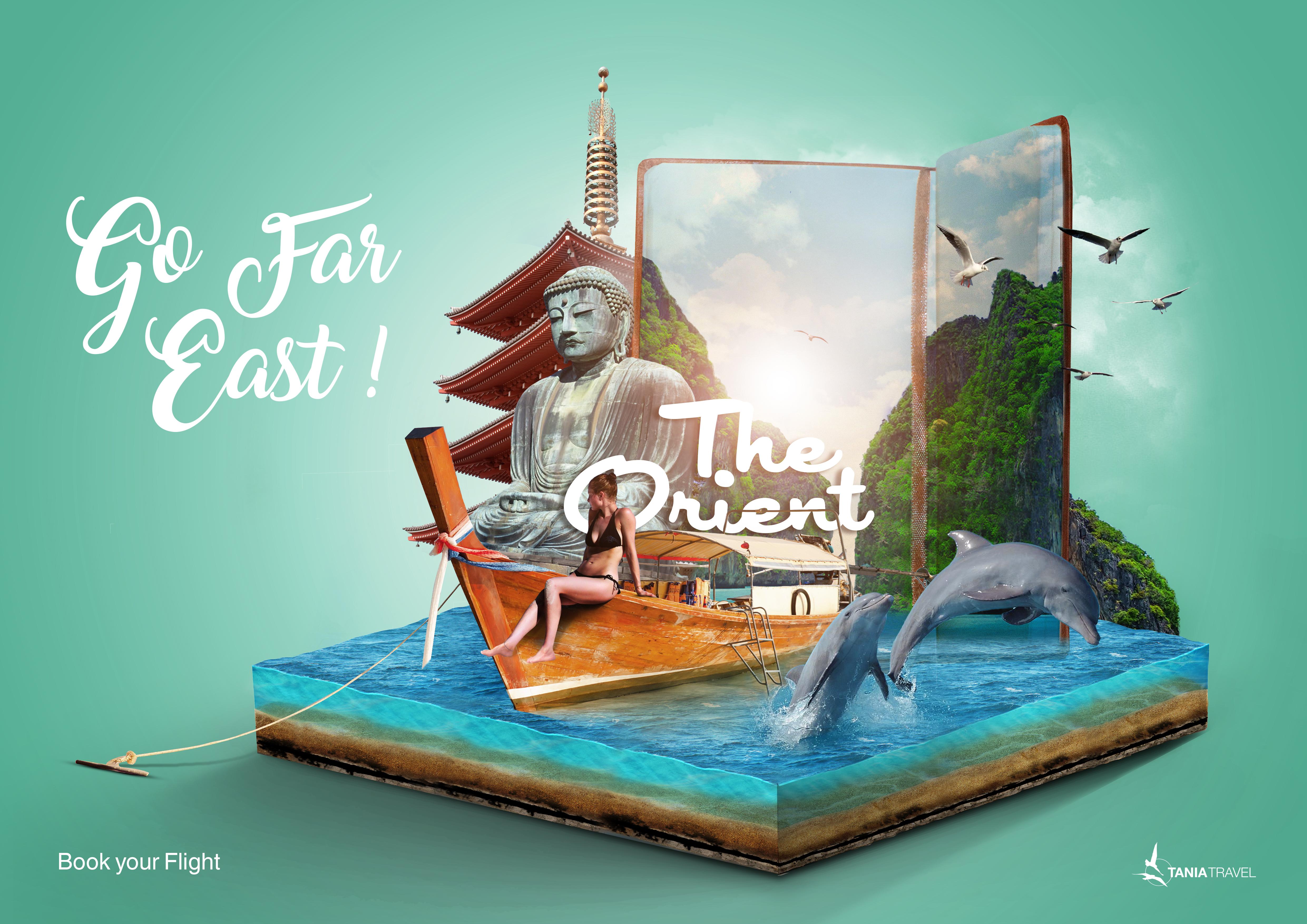 Tania Travel Print Ad