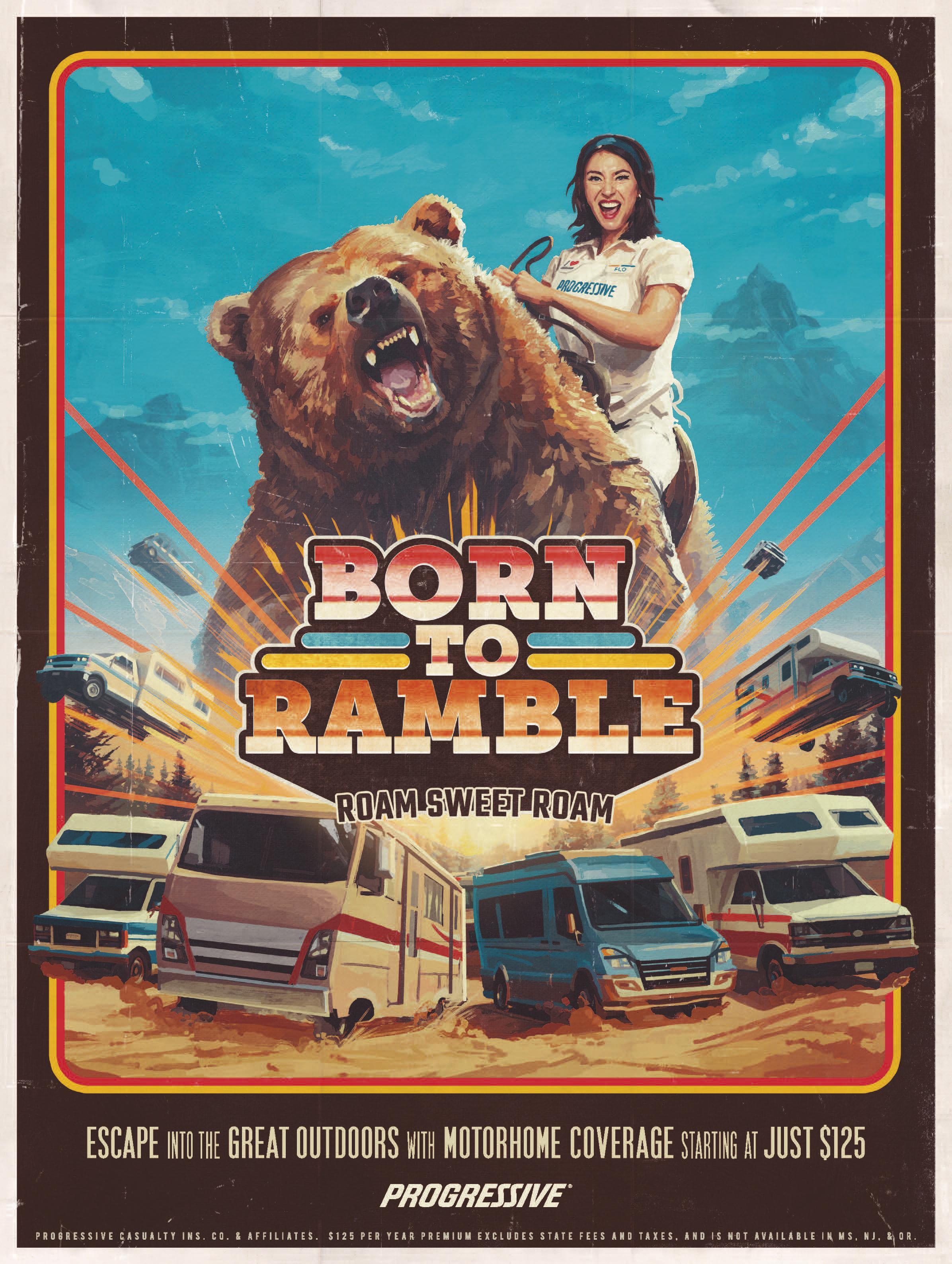 Progressive Insurance Print Ad   Born To Ramble