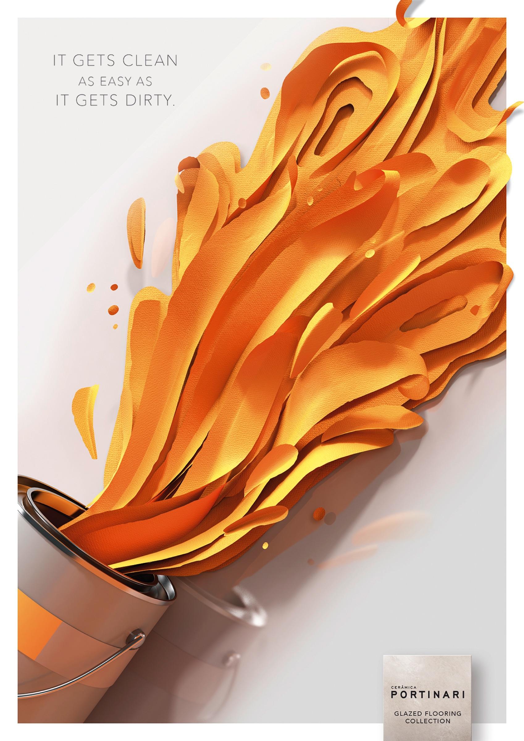 Ceramica Portinari Print Advert By Brainbox: Paint stain ...