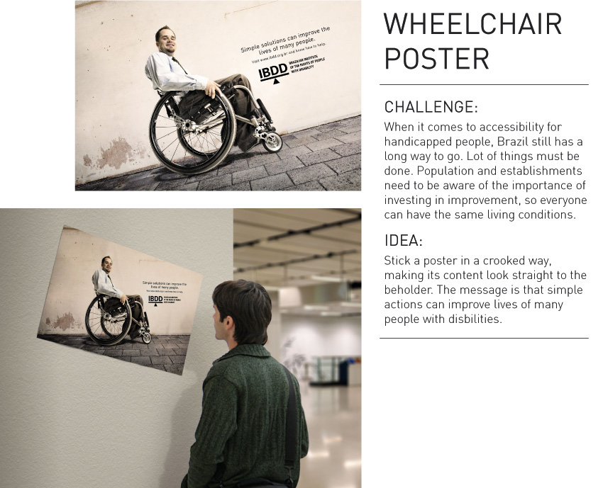 ibdd outdoor advert by giacometti wheelchair ads of the world