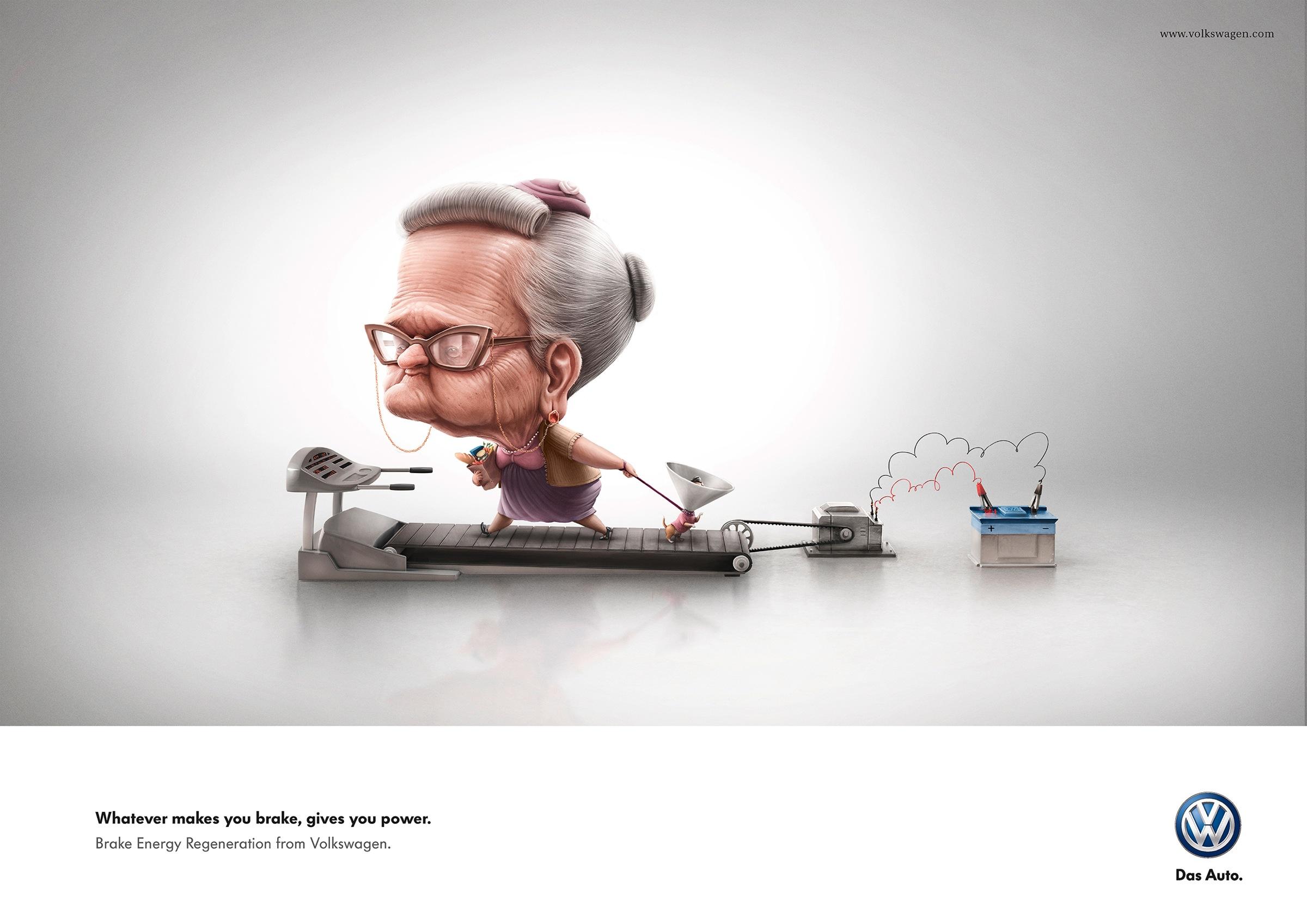 Volkswagen Print Advert By Grabarz & Partner: Grandma | Ads of the World™