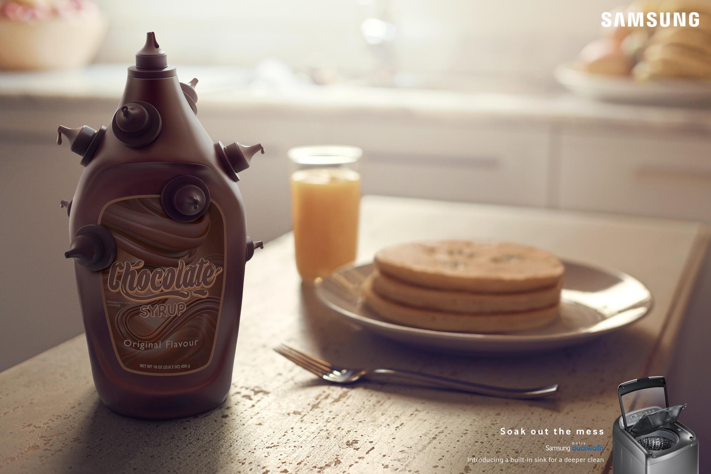 print ad leo burnett. Samsung Print Ad - Soak Out The Mess Chocolate Leo Burnett