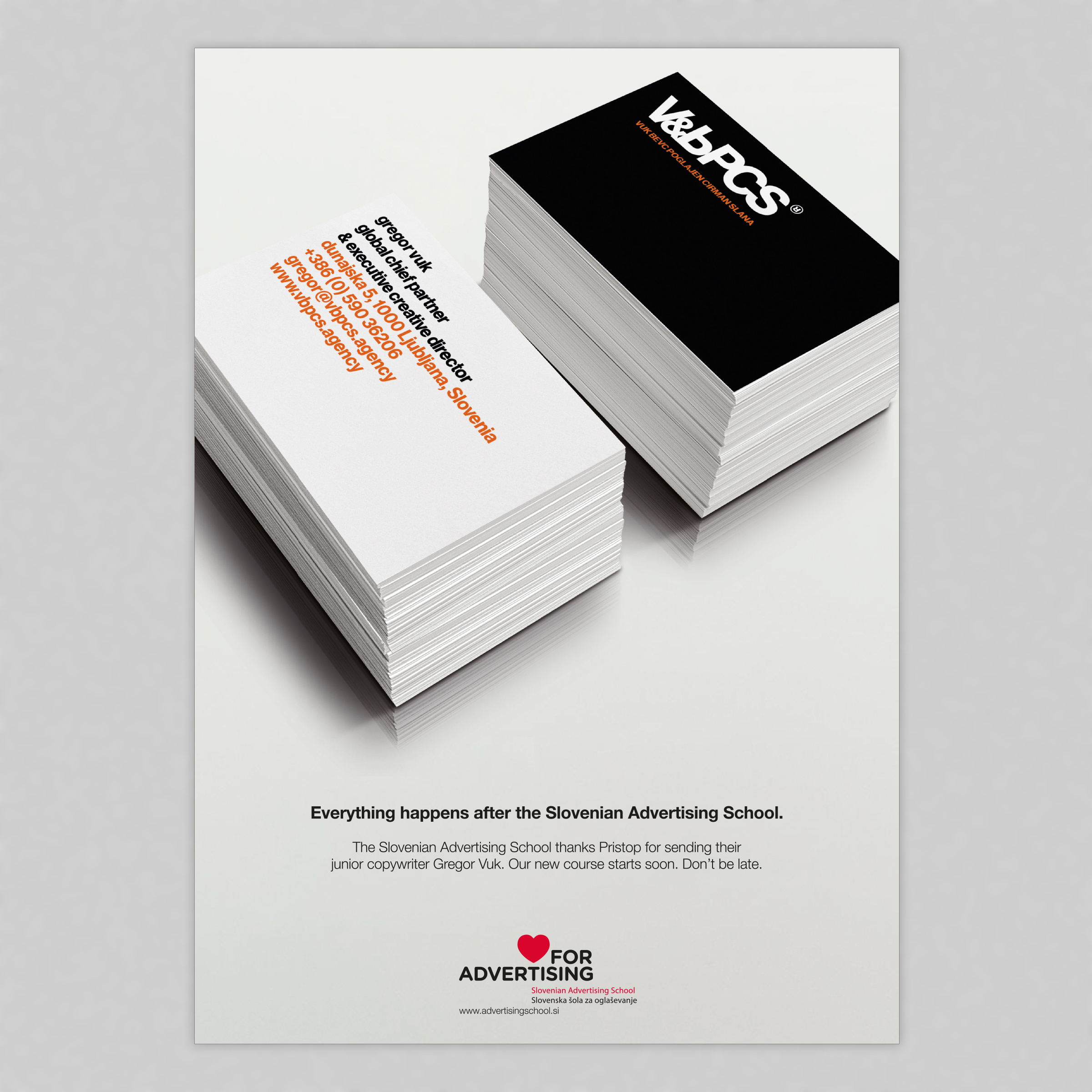 Slovenian Advertising School Outdoor Advert By : Buzz cards for the ...