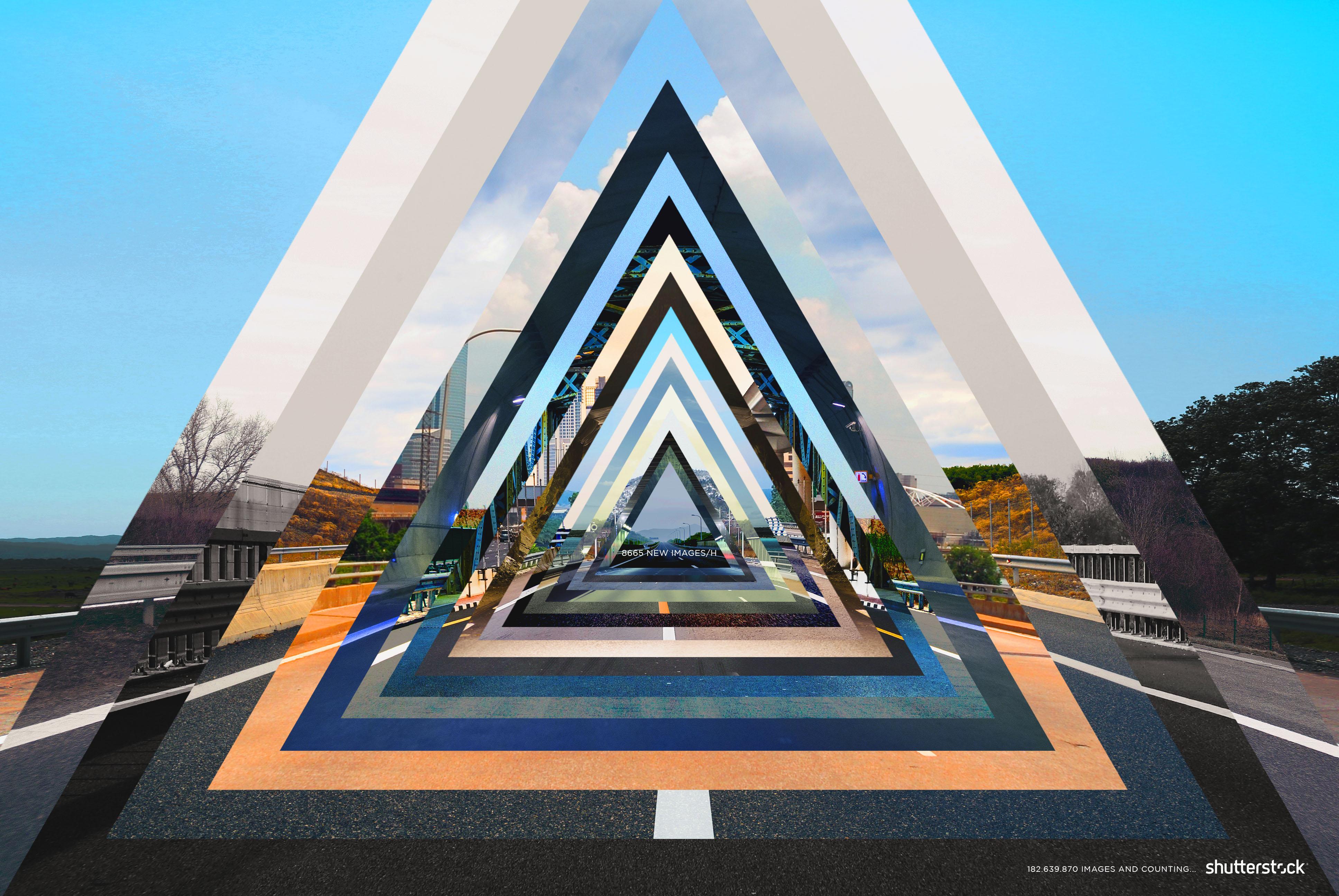 Shutterstock Print Advert By Mccann Triangles Ads Of
