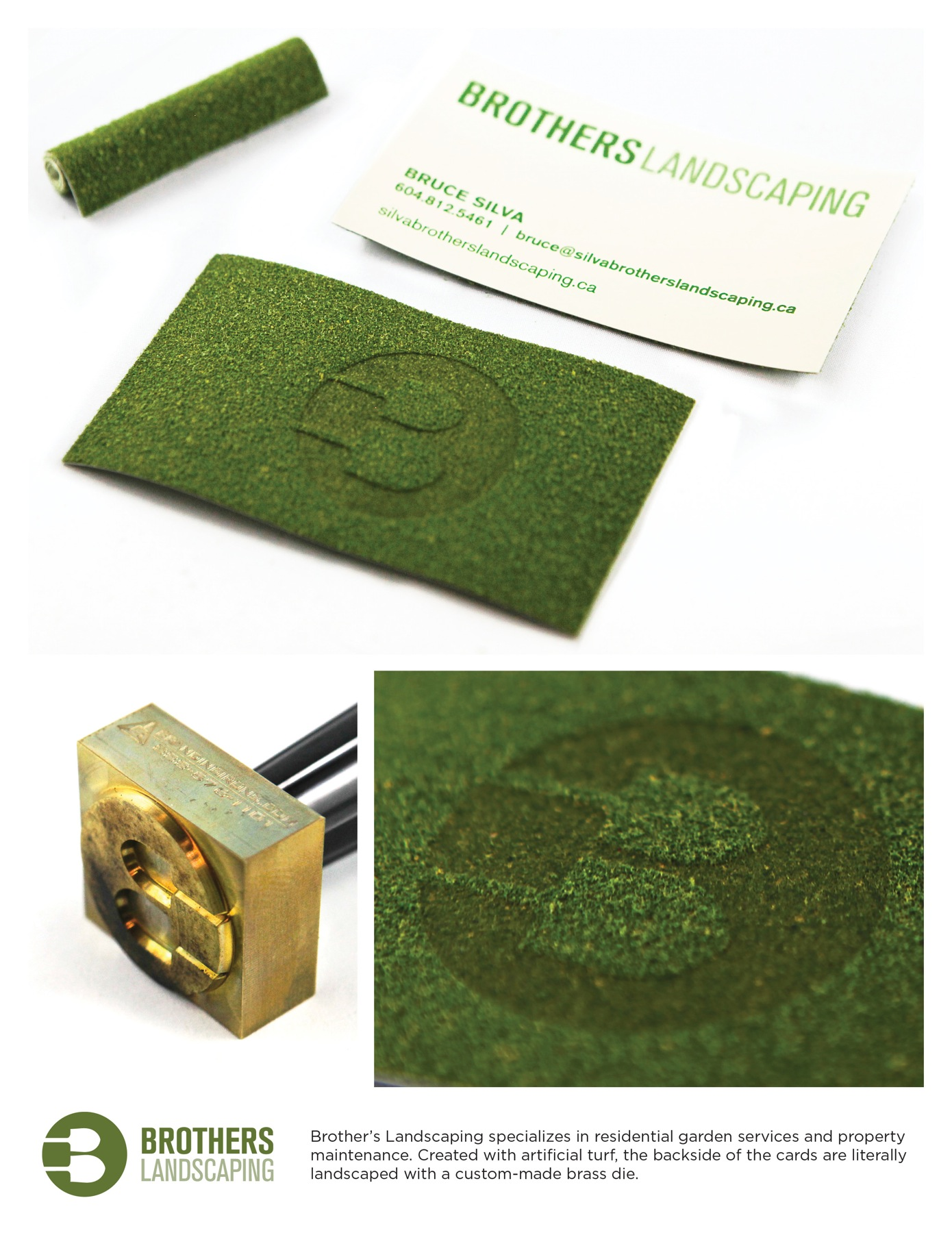 Brothers Landscaping Direct Advert By Spring: Turf Business cards ...