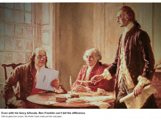 Kindle Print Ad - Can't Tell the Difference - Ben Franklin