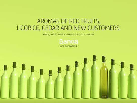 Bankia Print Ad - Wine, 1