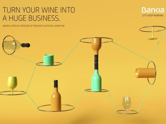 Bankia Print Ad - Wine, 2