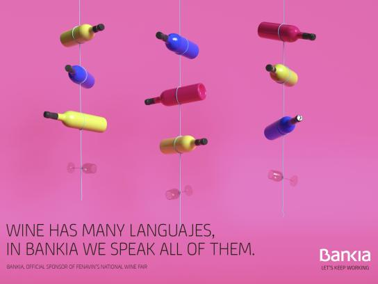 Bankia Print Ad - Wine, 3