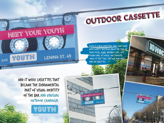 Youth Bar Outdoor Ad -  Cassette