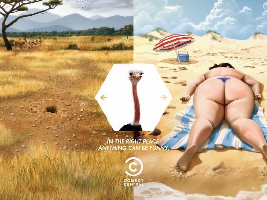 Comedy Central Print Ad -  Ostrich