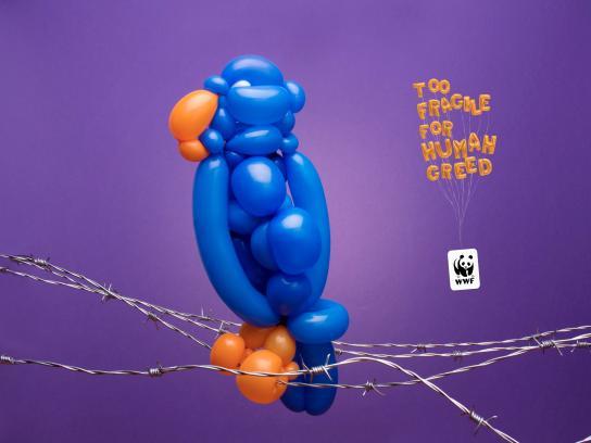 WWF Print Ad - Ballon animals, 1